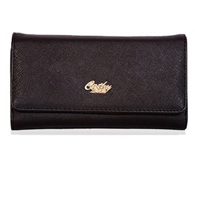 CATHY LONDON Girl's Cotton Wallet Medium Black B01FJR9PB8