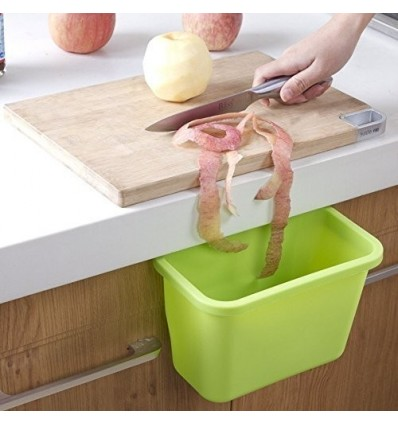 Multi-purpose Hanging Trash Bin Garbage Holder - Green