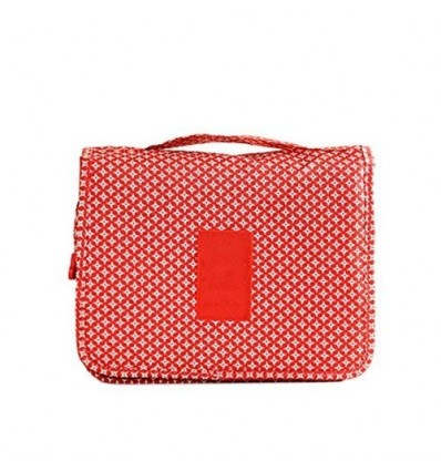 Multi Utility Hanging Toiletry Kit - Red