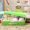 15+1 Compartment Cell Foldable Storage Box type Non-Smell Drawer Organizer for underwear Closet Storage (Green)
