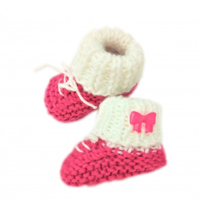 Magic Needles Handmade Knit Crochet Baby Booties Uggs Crib Shoes Newborn Socks Soft Sole Prewalker sneakers MN004183