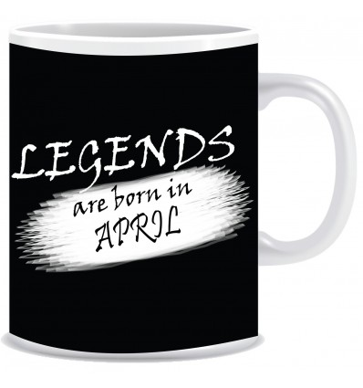 Everyday Desire Legends are Born in April Ceramic Coffee Mug - Birthday gifts for Boys, Men, Father - ED704