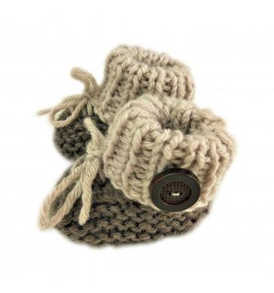 Magic Needles Handmade Knit Crochet Baby Booties Uggs Crib Shoes Newborn Socks Soft Sole Prewalker sneakers - MN004174
