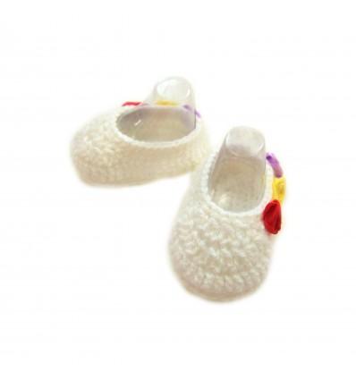 Magic Needles Handmade Knit Crochet Baby Booties Uggs Crib Shoes Newborn Socks Soft Sole Prewalker booties - MN004163