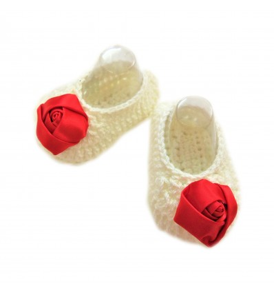 Magic Needles Handmade Knit Crochet Baby Booties Uggs Crib Shoes Newborn Socks Soft Sole Prewalker booties - MN004161