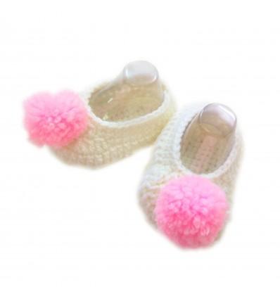 Magic Needles Handmade Knit Crochet Baby Booties Uggs Crib Shoes Newborn Socks Soft Sole Prewalker booties - MN004159