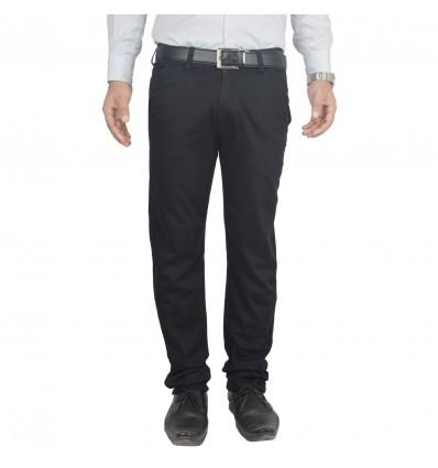 Clivemont ® Men's Jet Black formal Slim Fit Trouser CLVBLKJ