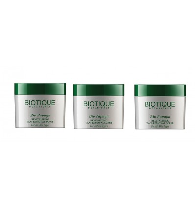 Biotique Revitalizing Papay Tan Removal Scrub (Pack of 3) (75g each)