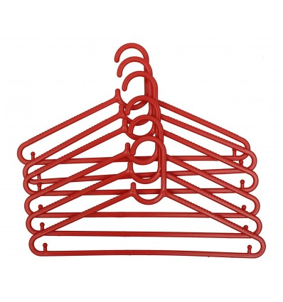 Polyset 6 Pcs Classic Hanger (Red)