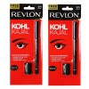 Revlon Kohl Kajal Eye Liner Pencil Black, 1.14g (Pack of Two)