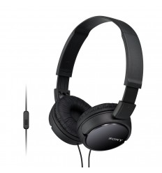 Sony MDR ZX-110AP On-Ear Headphones Earphones For Mobile Laptop With MIC (3.5MM) (Black)