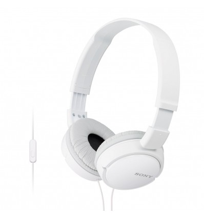 Sony MDR ZX-110AP On-Ear Headphones Earphones For Mobile Laptop With MIC (3.5MM) (WHITE)