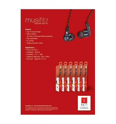 iBall Musifit2 Stereo Bass Earphone with mic