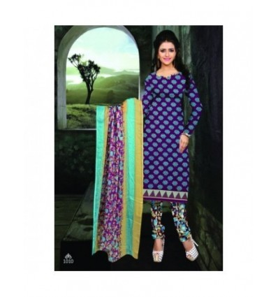 Soulmates Trendz Printed Cotton Churidar Material - Unstiched 8615