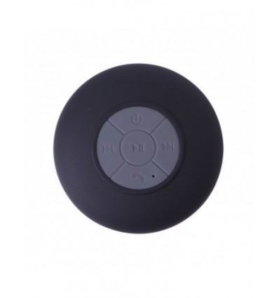 Portable Water Resistant Wireless Shower Speaker with built in mic (Black)