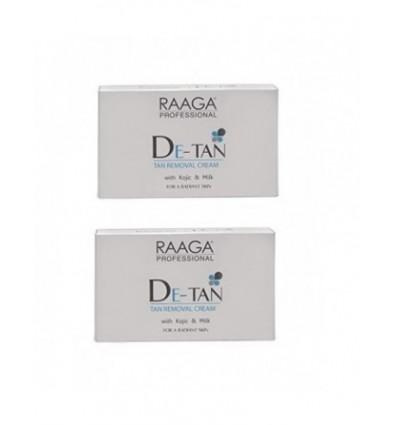 Raaga Professional De Tan with Kojic and Milk for Radiant Skin, 10 SACHET EACH PACK (Original guarantee)