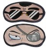 Jenna Black Specs Patch Eye Cartoon Face Sleeping Eye Mask (Pack of 2)