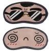 Jenna Black Specs Spiral Cartoon Face Sleeping Eye Mask (Pack of 2)