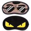 Jenna Black Specs Yellow Eye Cartoon Face Sleeping Eye Mask (Pack of 2)