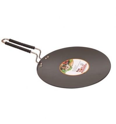 PAN WORLD Hard Anodised Aluminum Chapati / Roti Tawa ( 28 cm, Black )