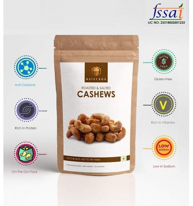 Nutsy Box Roasted And Salted Pepper Cashews, 490g