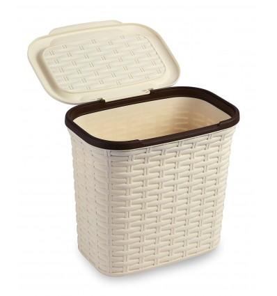 All Time Plastics Rattan Plastic Storage Chest, 27 Litres, Beige 27BoxBeige
