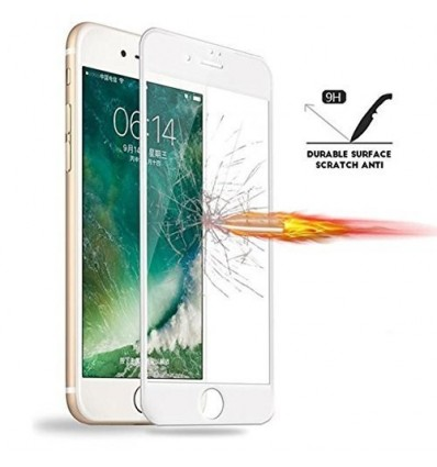 IPhone 6S Plus / 6 Plus Full Cover Premium 5D Tempered Glass | Buy One Get One Free (White)