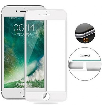 IPhone 8 Full Cover Premium 5D Tempered Glass | BUY 1 GET 1 FREE (White)