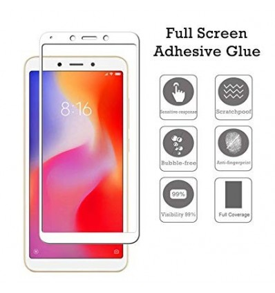 Xiaomi Mi 6 Full Cover Premium 5D Tempered Glass (White) Buy 1 Get 1 Free
