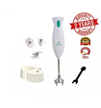 Chefware hand Blender 300 watt (100% copper motor Wiring) 1 year warranty- Perfect for Blending Whipping and Chopping