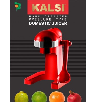 Kalsi Compact Juicer For Citrus Fruits & Pomegranate (Red)