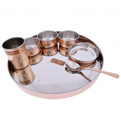 SAGA Copper & Steel Plate Set, 7-Piece