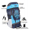 POLESTAR XPLORE 55 ltrs with Rain Cover Rucksack/Hiking/Trekking Backpack Bag 55 ltrs Sky