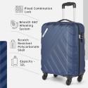 Safari RAY Polycarbonate 53 cms Midnight Blue Hardsided Cabin Luggage RAY534WMBL