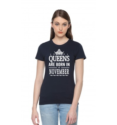 Queens Are Born In November T-shirt - Pepperclub