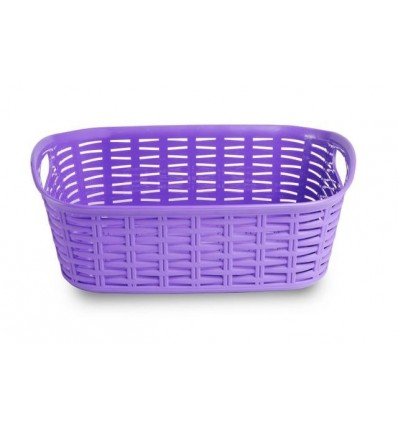 All Time Plastics Rattan Plastic Shelf Basket, 2 Litres, Elegant Purple 2Purple
