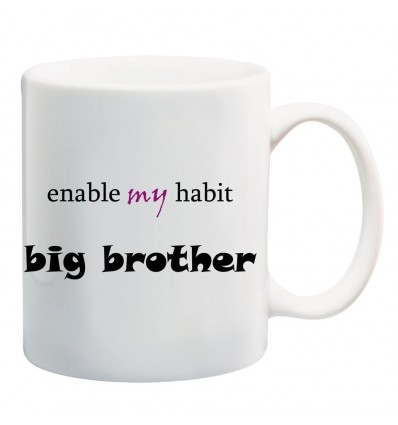 Enable My Habit Printed Ceramic Coffee Mug ED060