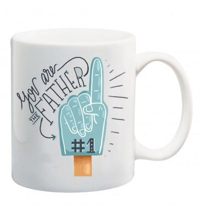 Father No 1 Printed Ceramic Coffee Mug ED062