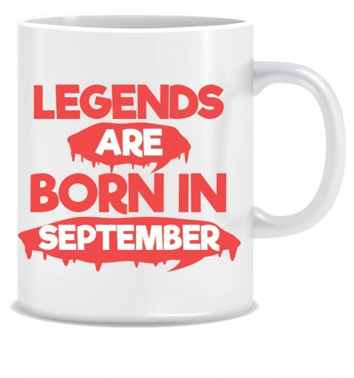 Everyday Desire Legends are Born in September Printed Ceramic Coffee Mug ED074