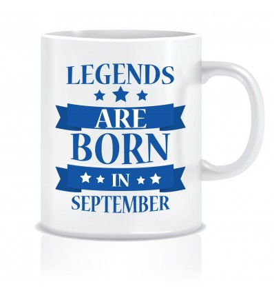Everyday Desire Legends are Born in September Printed Ceramic Coffee Tea Mug ED096