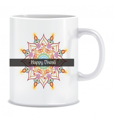 Everyday Desire Happy Diwali Printed Ceramic Coffee Mug ED097
