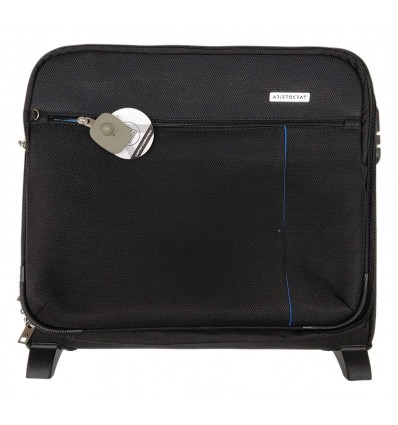 Aristocrat Lincoln Overnighter Black Luggage Trolley