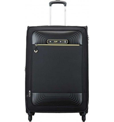 Skybags QUARTZ 4W EXP STROLLY 81 BLACK Expandable Check in Luggage 32 inch Black