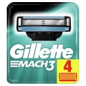 Gillette Mach 3 Manual Shaving Razor Blades 4 Cartridges