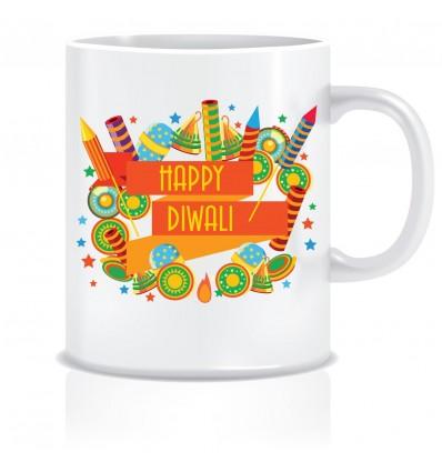 Everyday Desire Happy Diwali Gift Ideas Printed Ceramic Coffee Mugs ED109