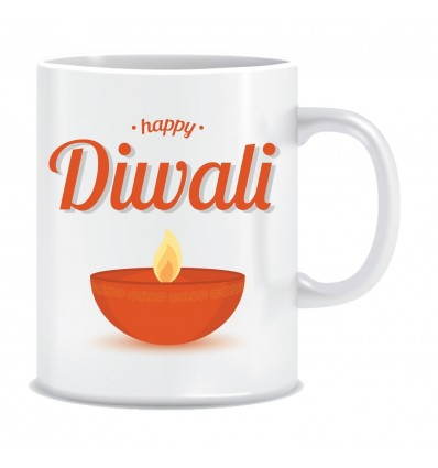 Everyday Desire Diwali Greetings Happy Diwali Printed Ceramic Coffee Tea Mug ED114