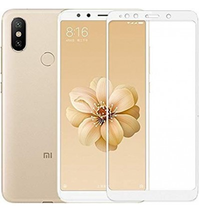 Xiaomi Mi A2 Full Cover Premium 5D Tempered Glass (White) Buy 1 Get 1 Free