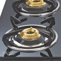 Sunflame Crystal Curve Toughened Glass Cooktop 4 Burner