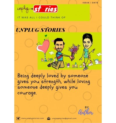 Unplug Stories ~Gift For Your Partner ~ Memory book~40 pages~ Hardback~Caricature to match the scenario