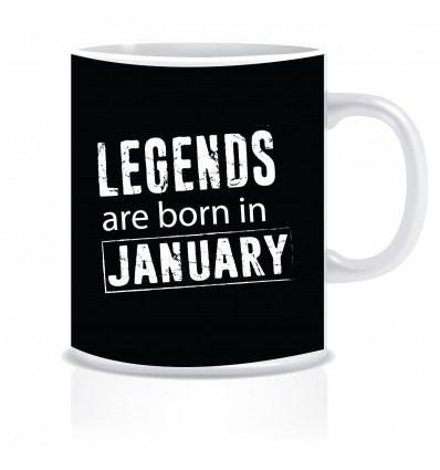 Everyday Desire Legends are born in January Ceramic Coffee Mug ED314- Birthday gifts for Boys, Men, Father